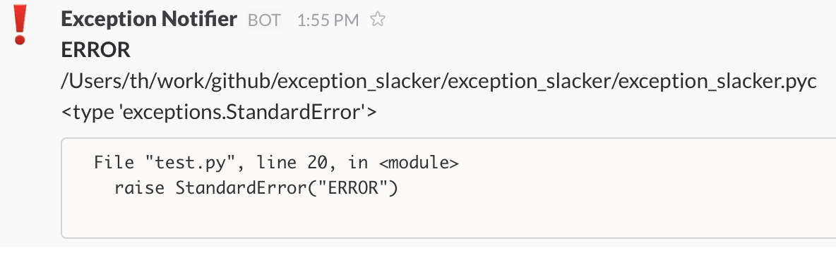 exception_slacker